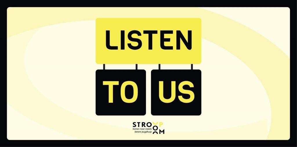 Eerste podcast Listen to us! live